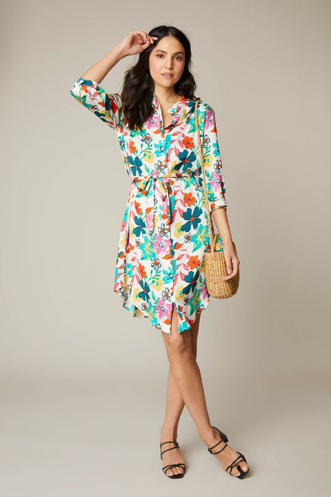 Jenna Dress  | White Casa Floral