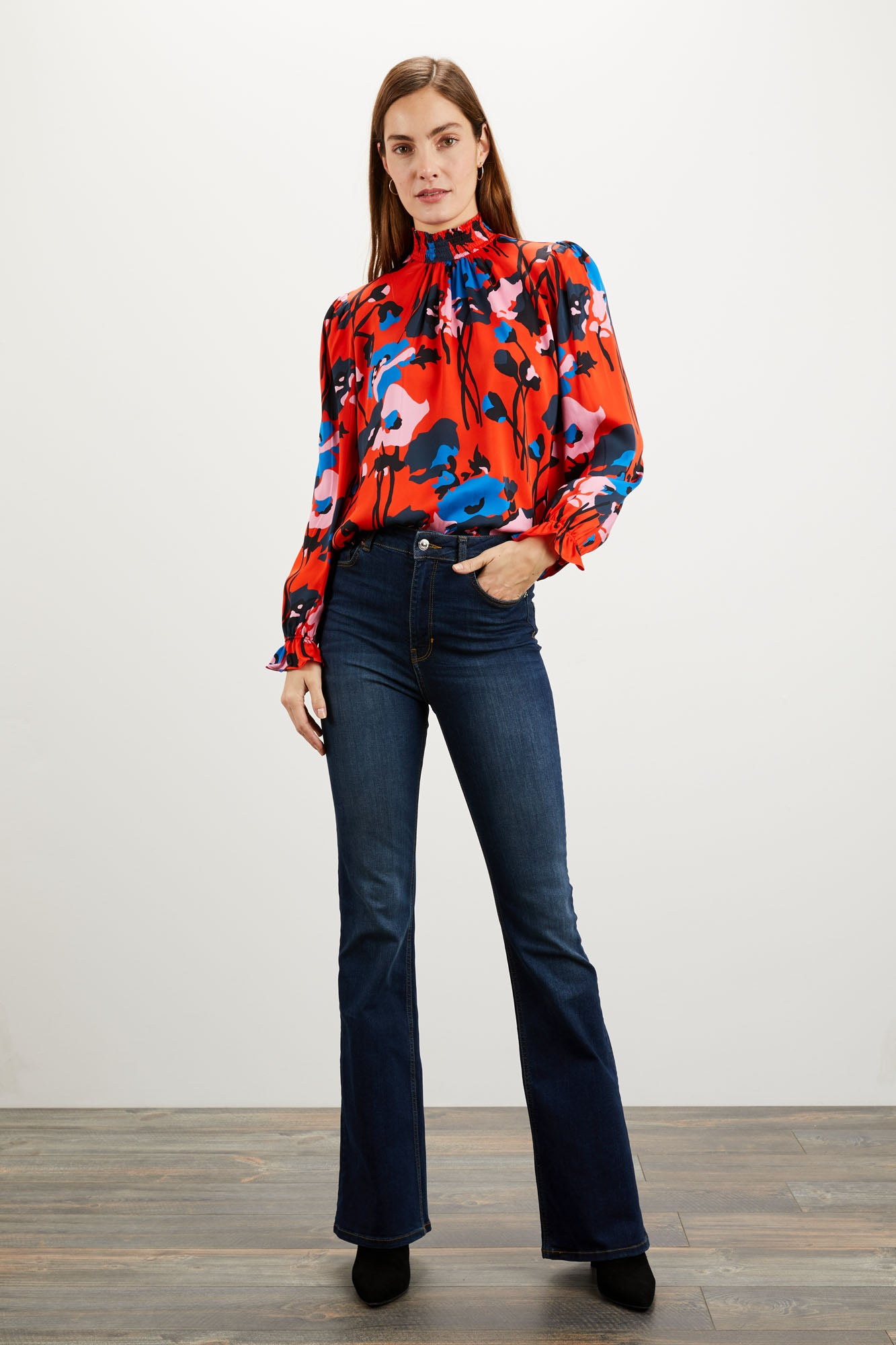 Stella Top | Dini's Red Floral