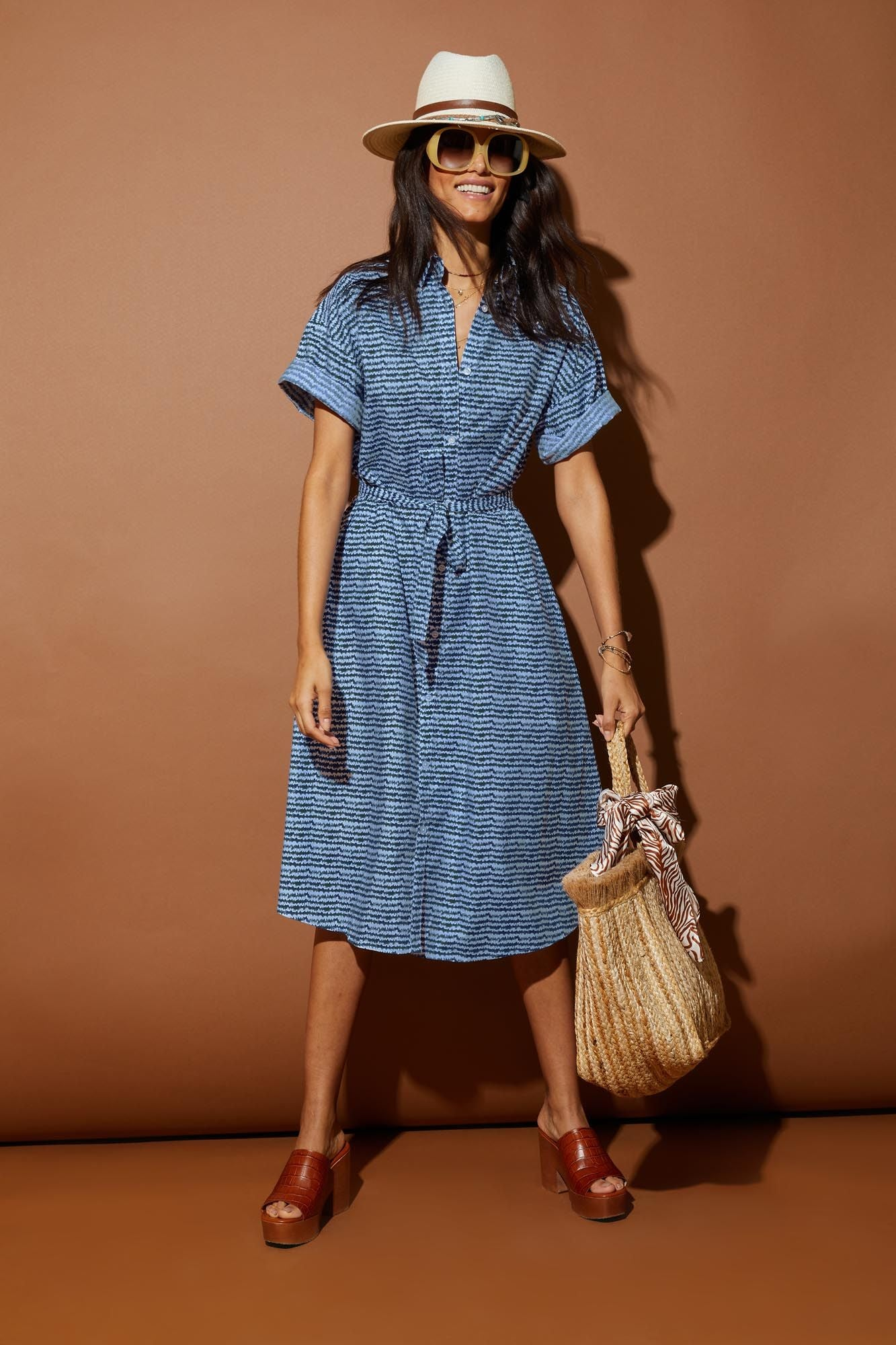 Safari Shirtdress | Indigo Sound
