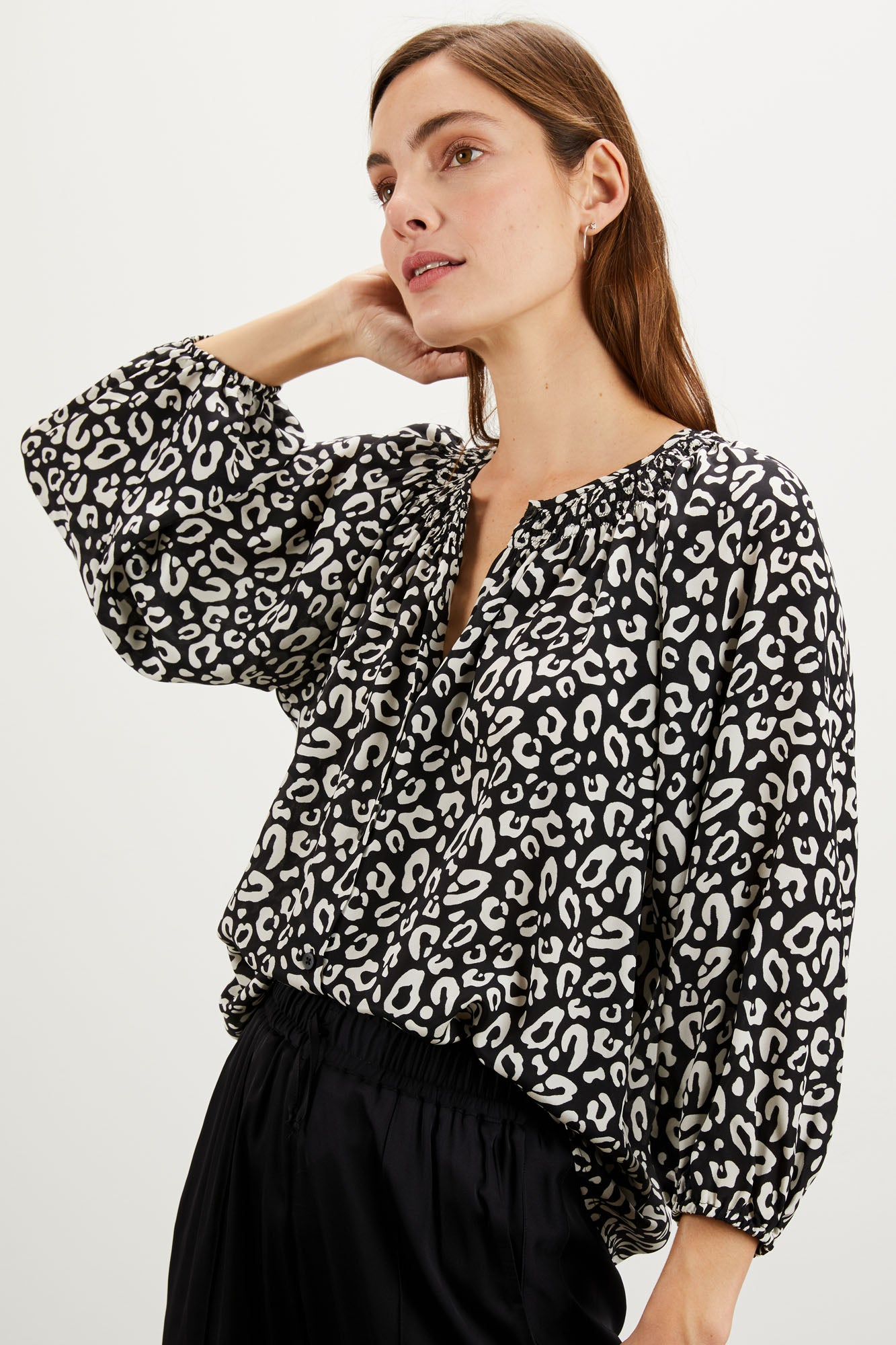 The Classic Blouse | Black Kitty Cat Dreamer
