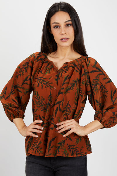 The Classic Blouse | Caramel Pine