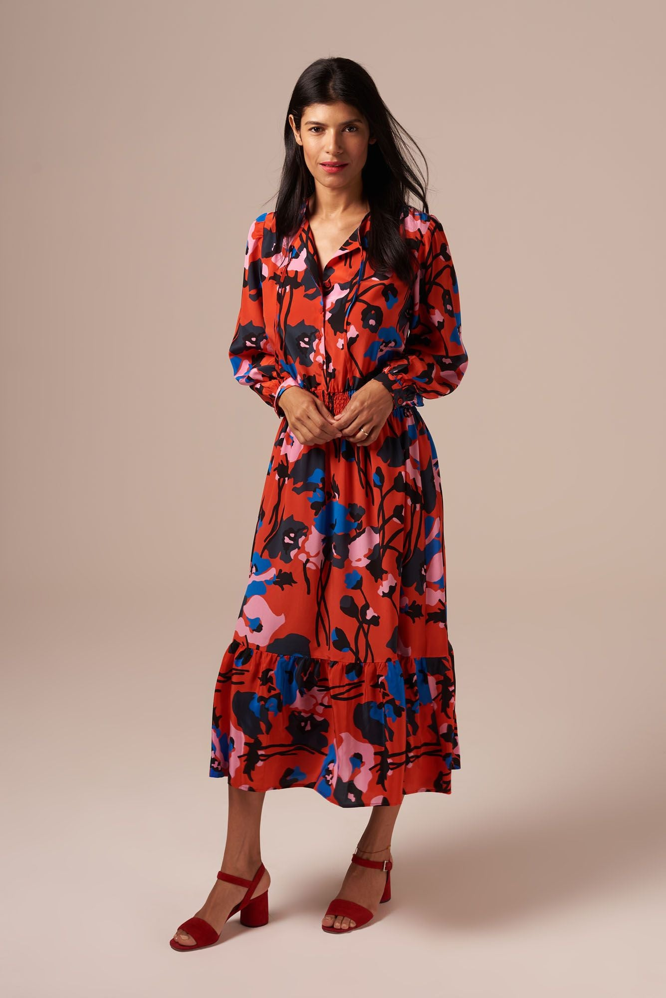 Juliette Dress | Dini's Red Floral