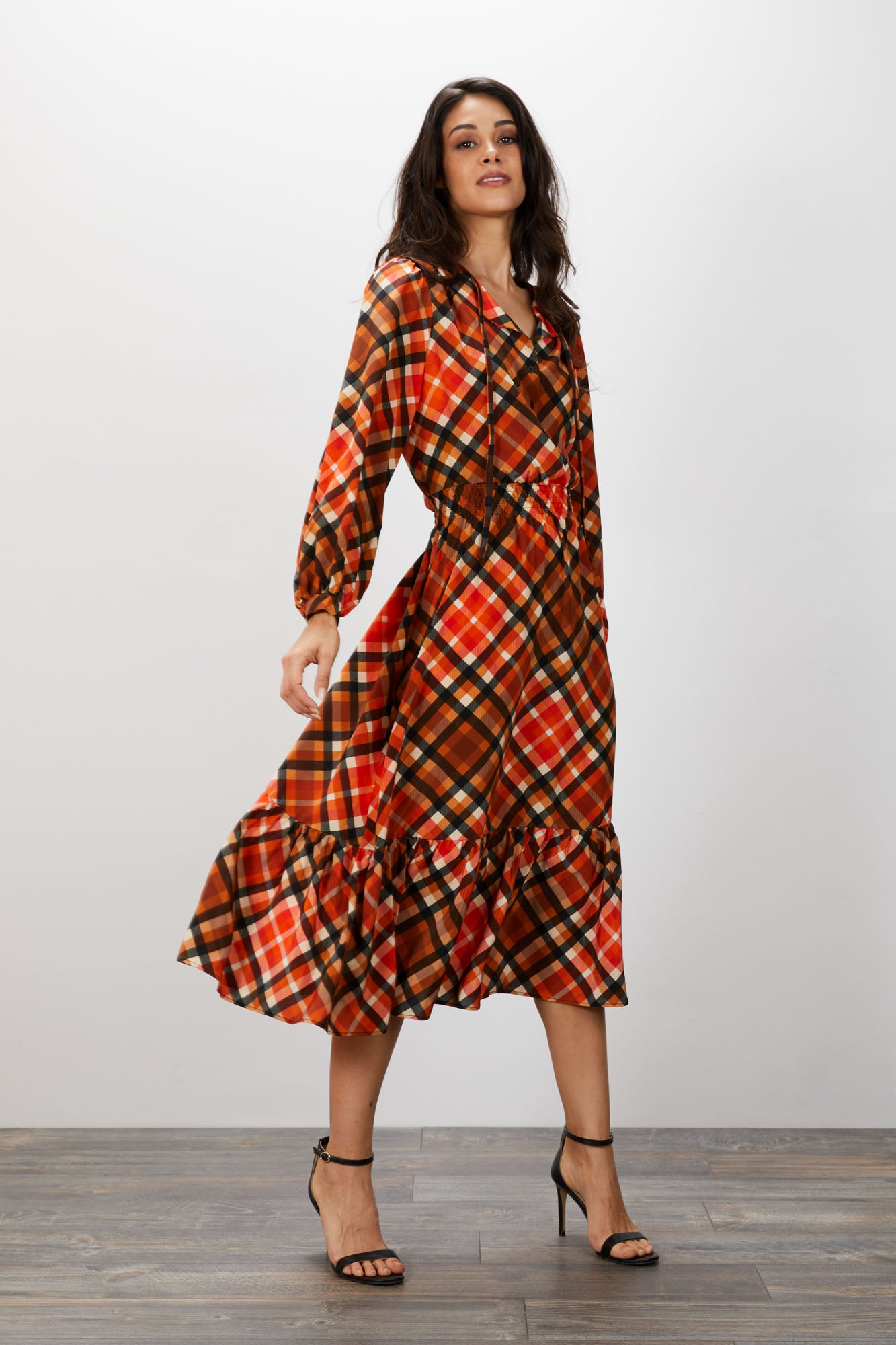 Juliette Dress | Rudolph Plaid
