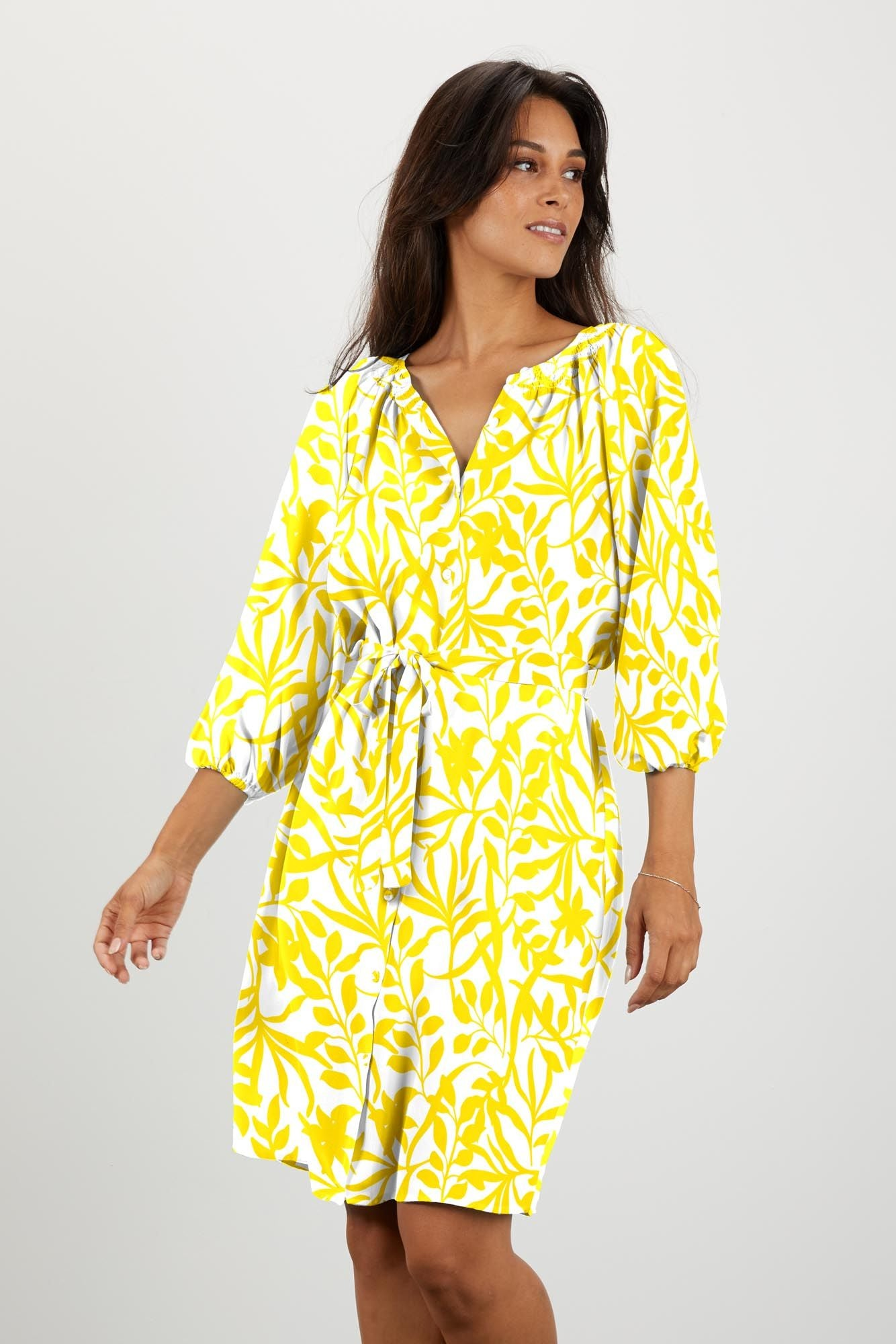The Classic Knee Length Dress | Lemon Figi Floral