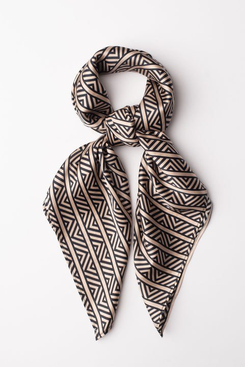 Lily Scarf | Black Chevron