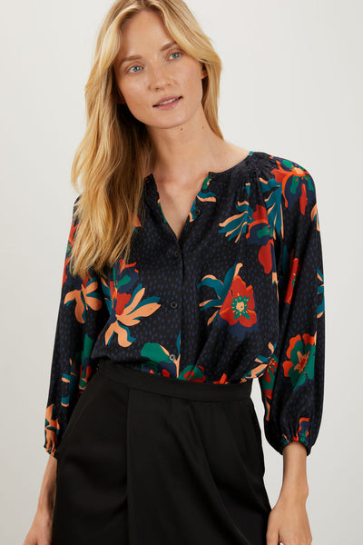 The Classic Blouse | Black Spotted Lily