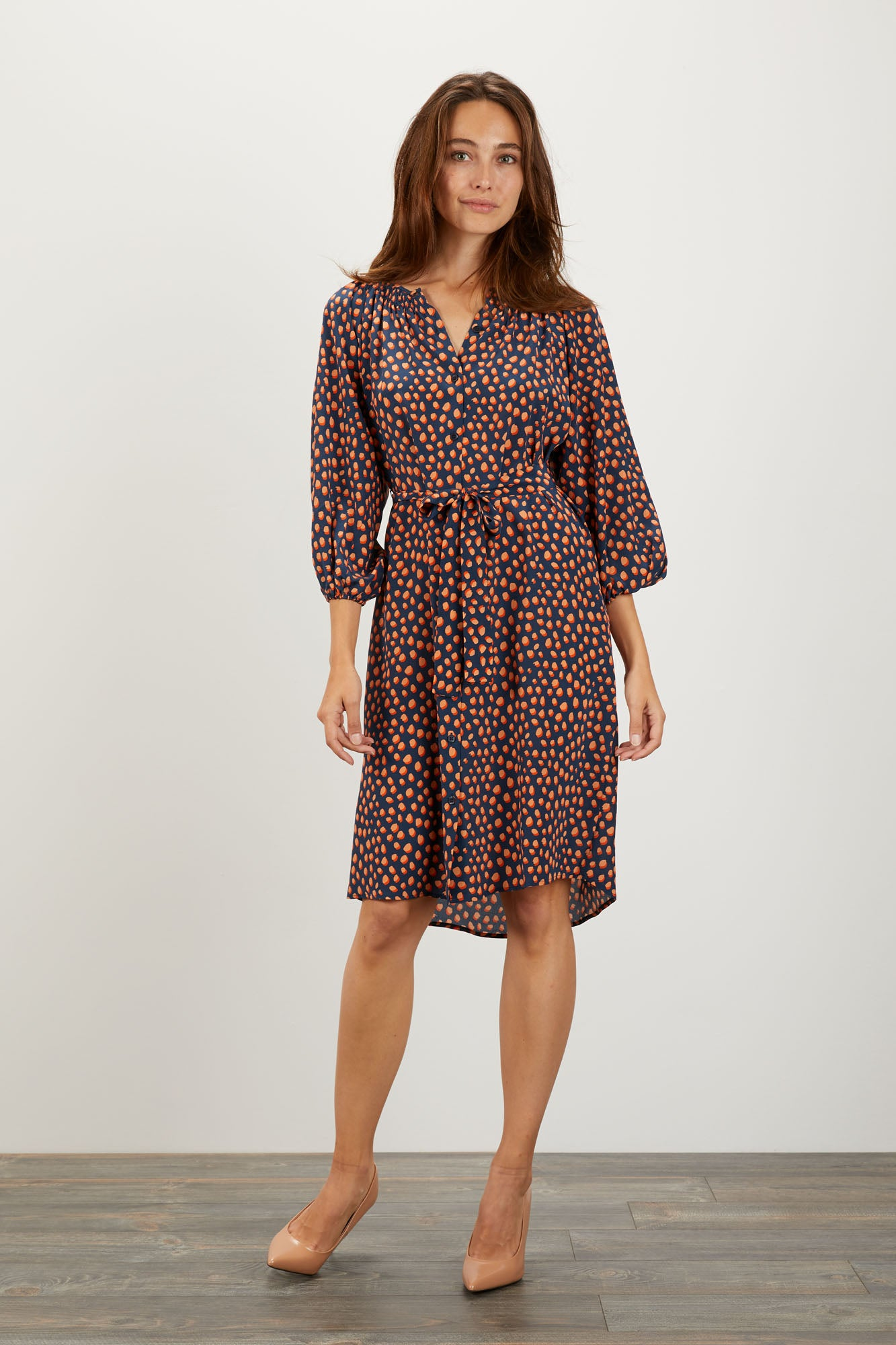 The Classic Knee Length Dress | Candy Dot