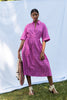 Safari Shirtdress | Fuchsia Gingham