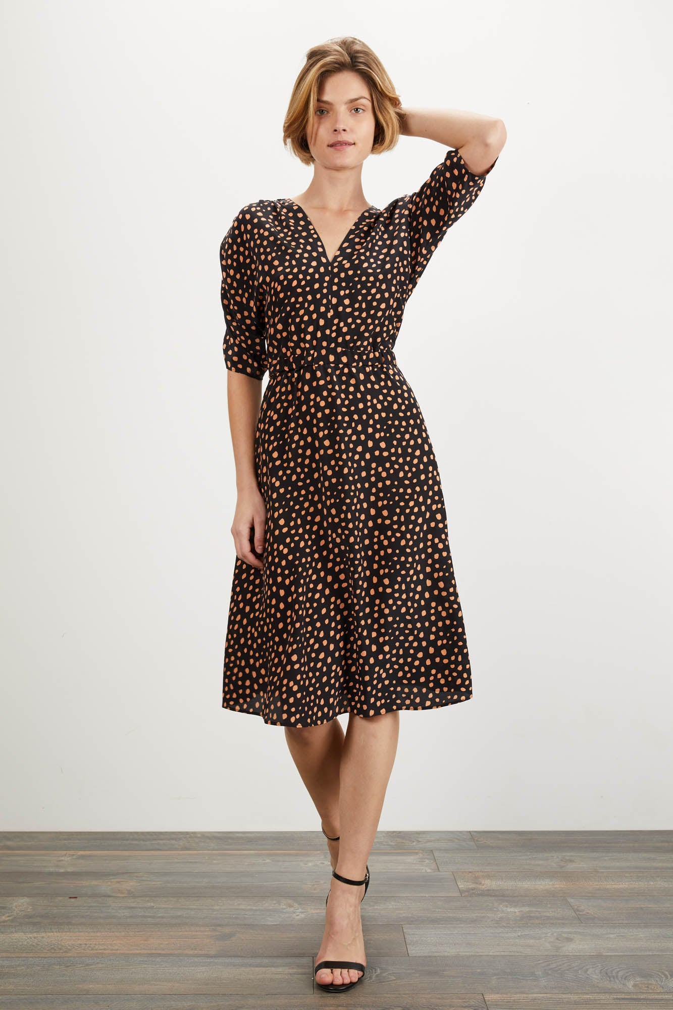 The Market Dress | Ebony Dot