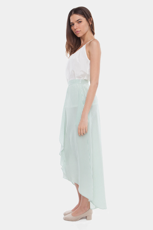 The Cascade Skirt | Grass Stripe