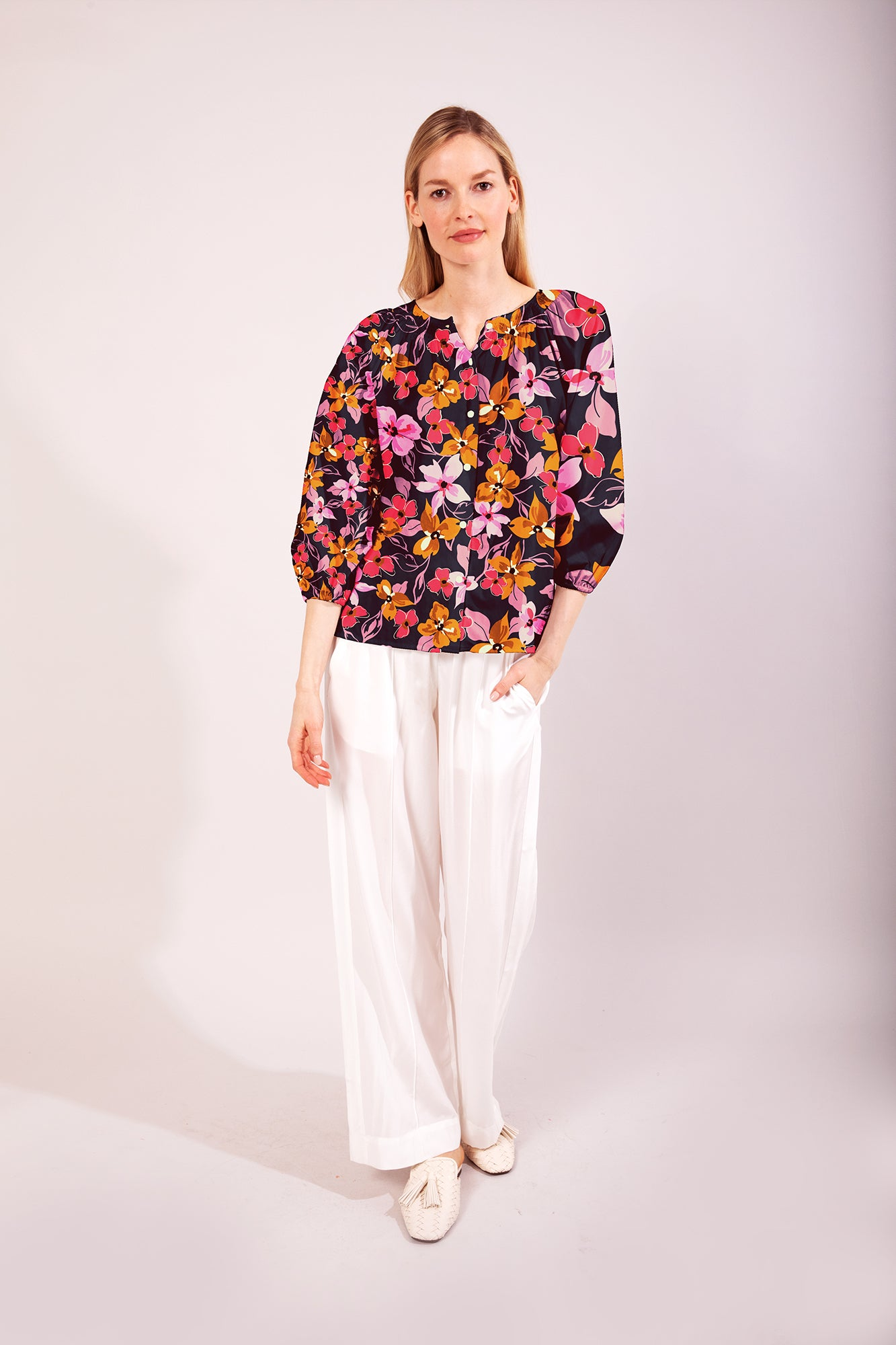 The Classic Blouse | Pink Petals by Starlight