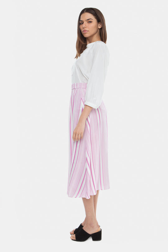 The Maxi Skirt | Bubblegum Stripe