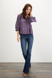 The Classic Blouse | Lavender Dot