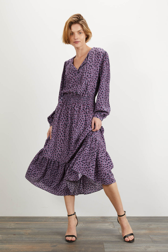 Juliette Dress | Lavender Dot