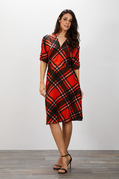 The Market Dress | Mr Claus Plaid