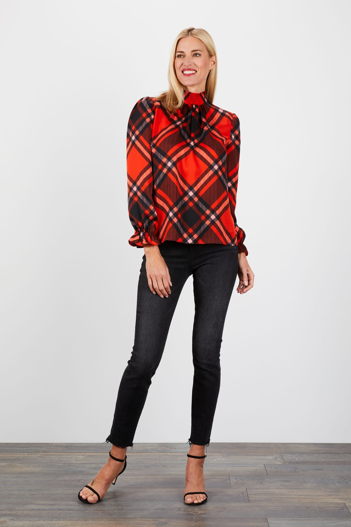 Stella Top | Mr Claus Plaid