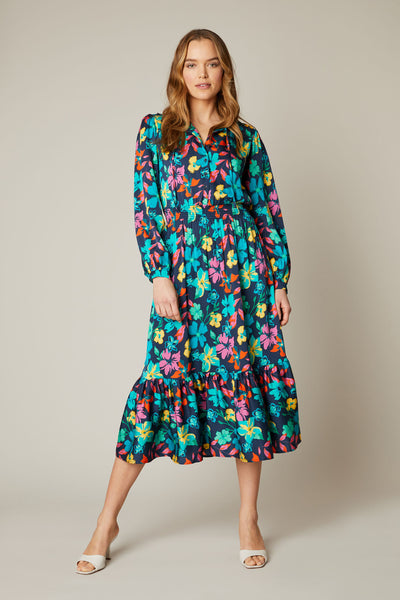 Juliette Dress | Navy Casa Floral