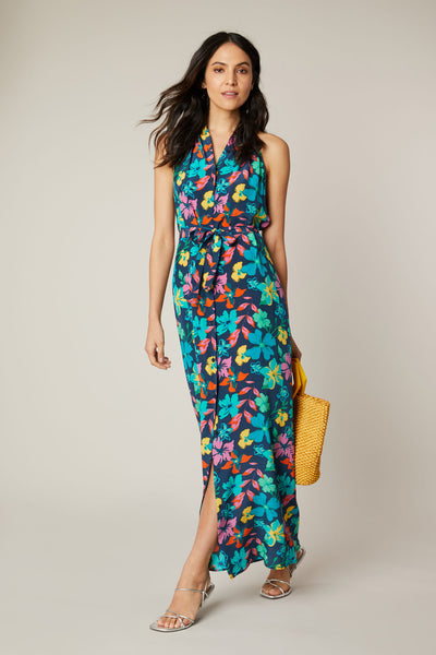 The Sleeveless Maxi Dress | Navy Casa Floral