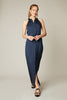 The Sleeveless Maxi Dress | Navy Chevron