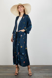 The Long Robe | Navy Splash