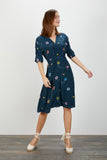 The Market Dress | Navy Splash
