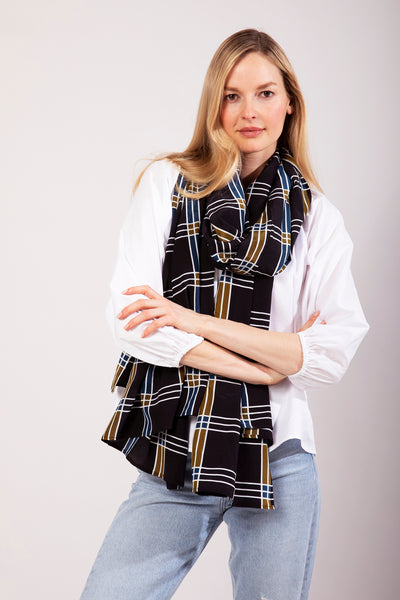 The Oversized Scarf | Multi Plaid