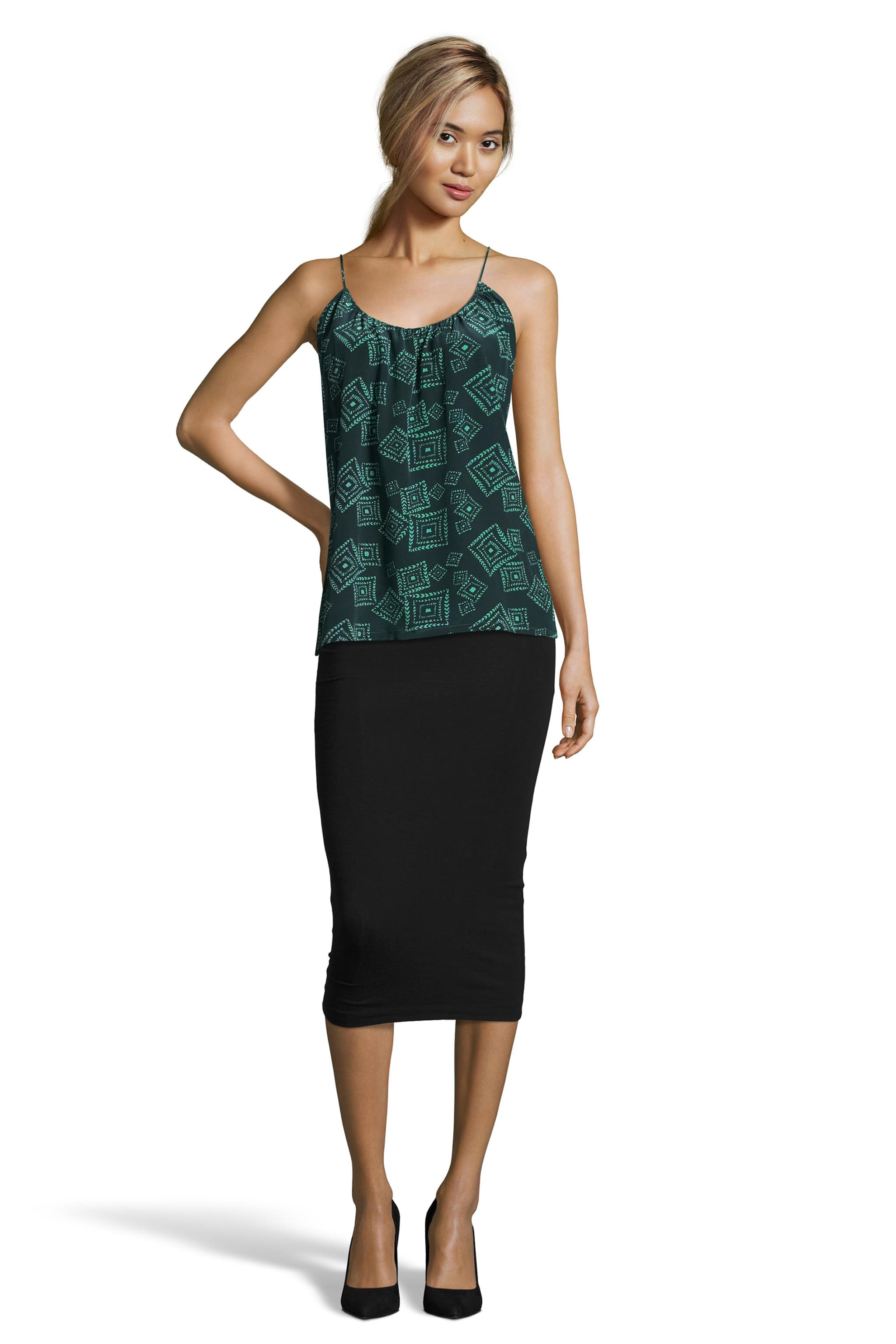 The Camisole | Green Tonal Diamond