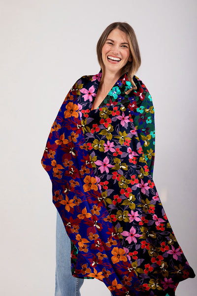 The Oversized Scarf | Petals by Starlight Multi