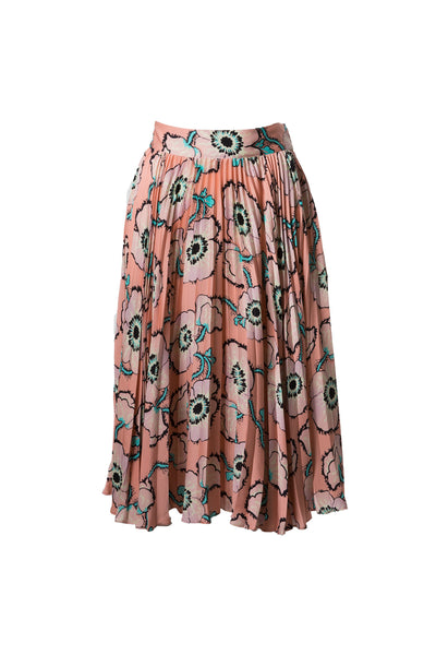 The Pleated Midi Skirt