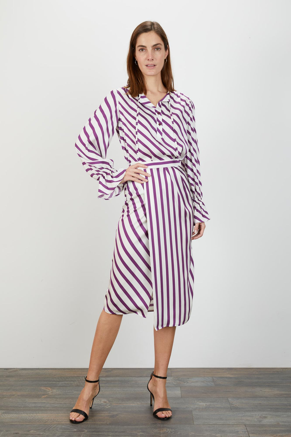 Juliette Blouse | Plum Breton Stripe