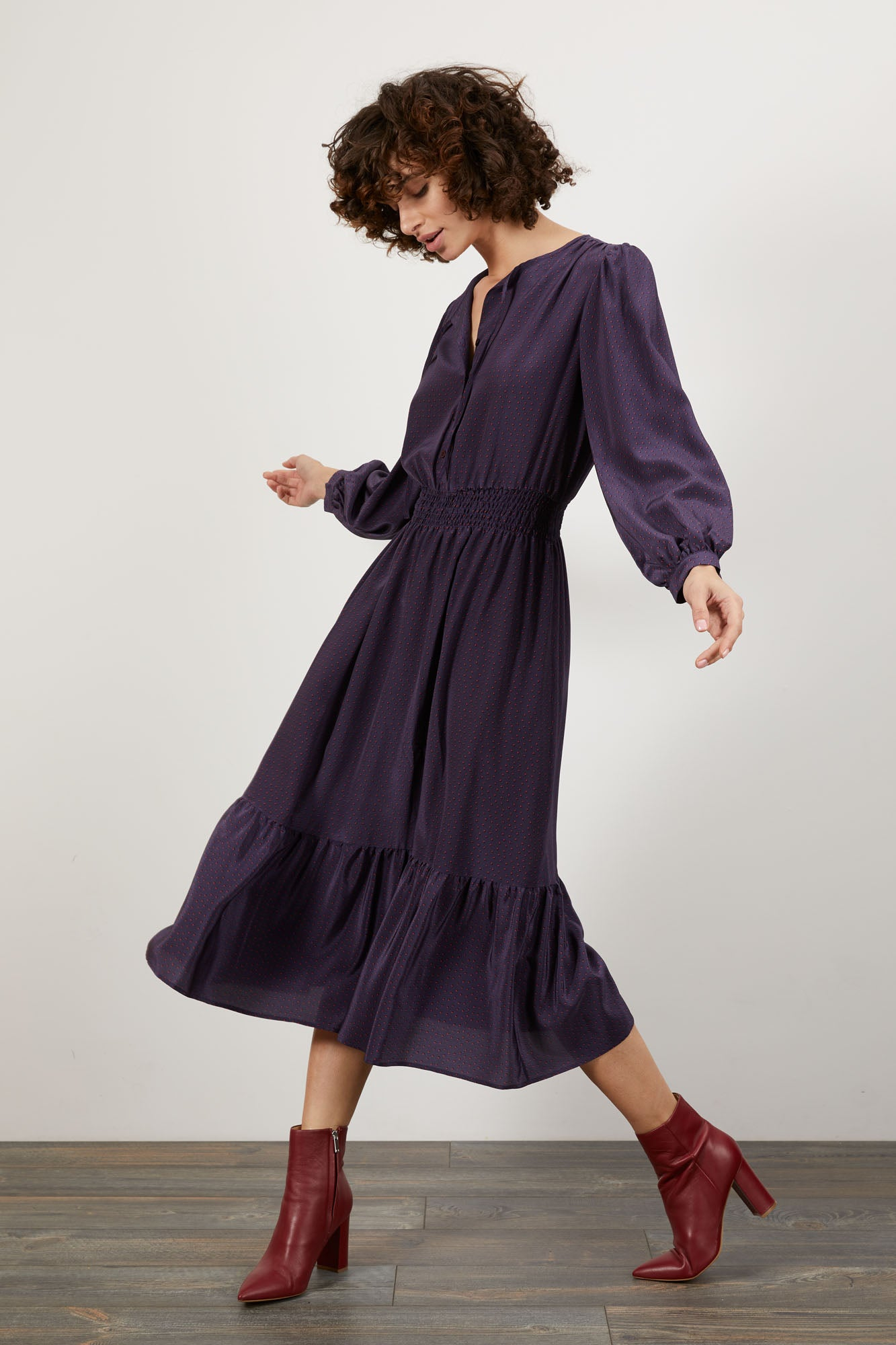 Juliette Dress | Purple Dot