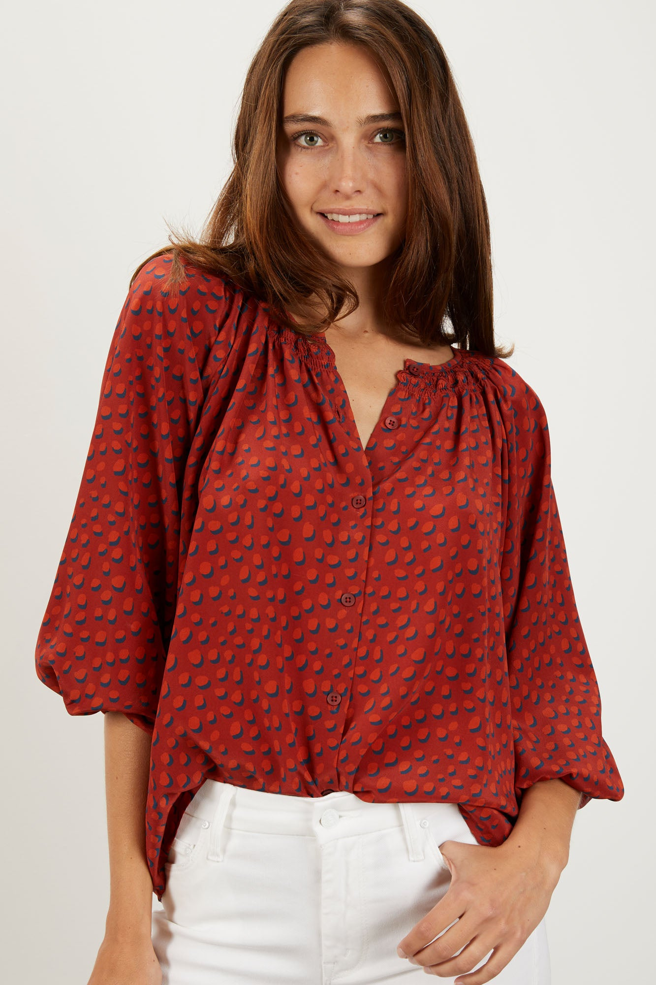 The Classic Blouse | Rustic Dot