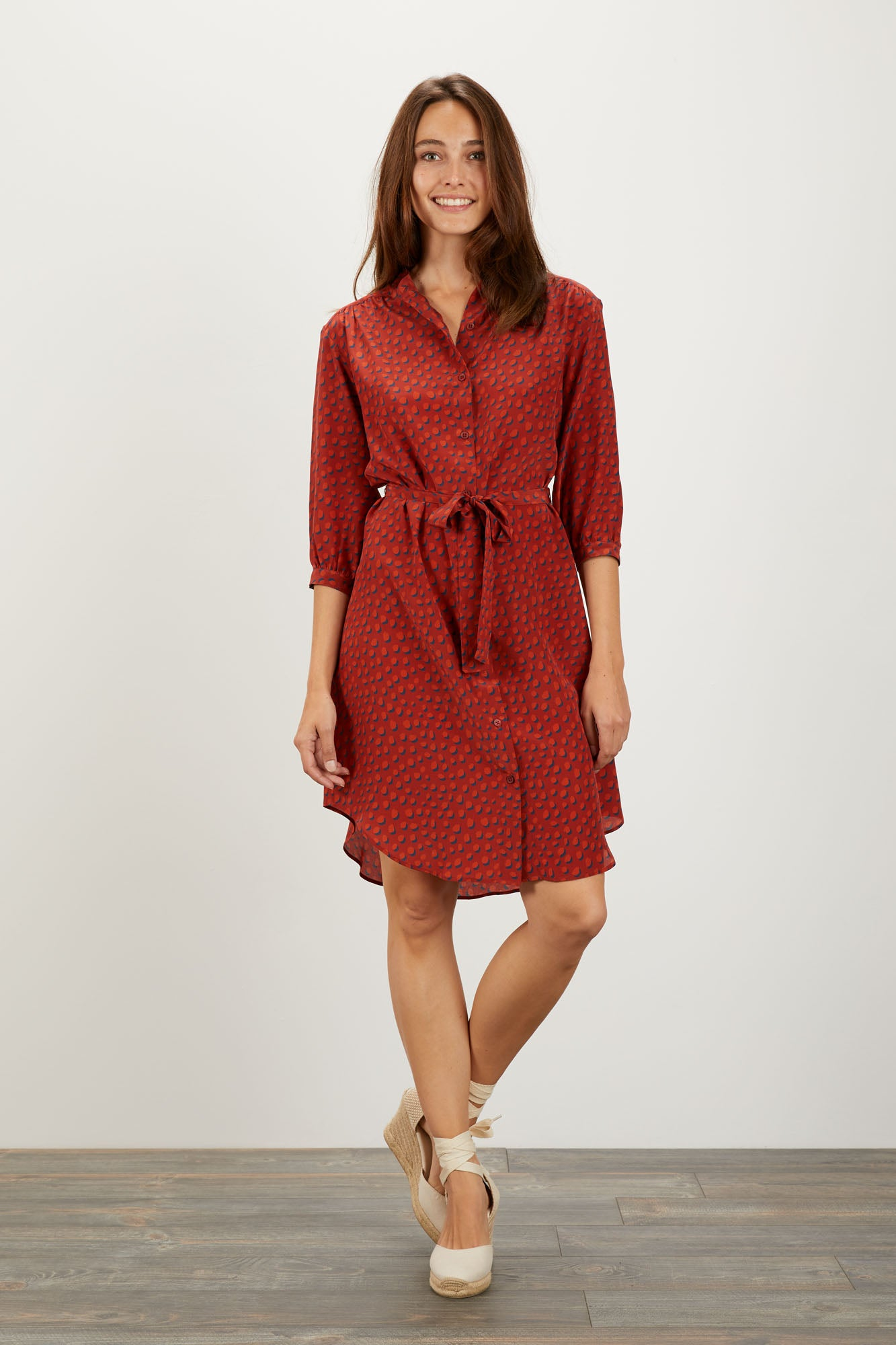Jenna Dress  | Rustic Dot
