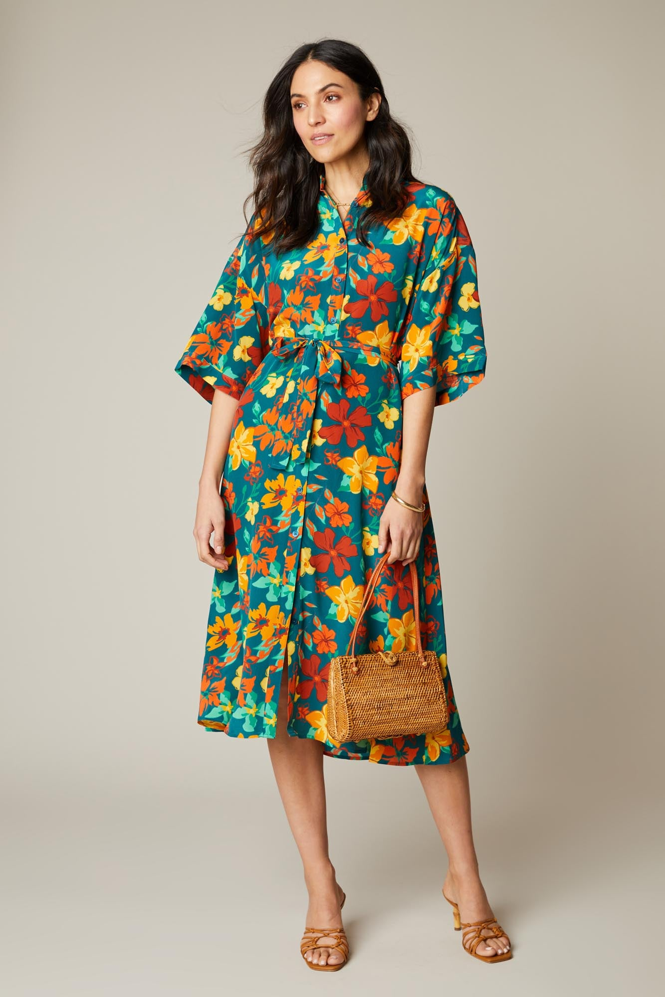 Safari Shirtdress | Sea Casa Floral