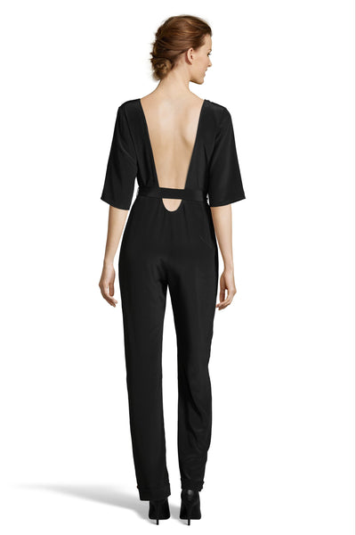 The Scoop Back Jumpsuit | Black