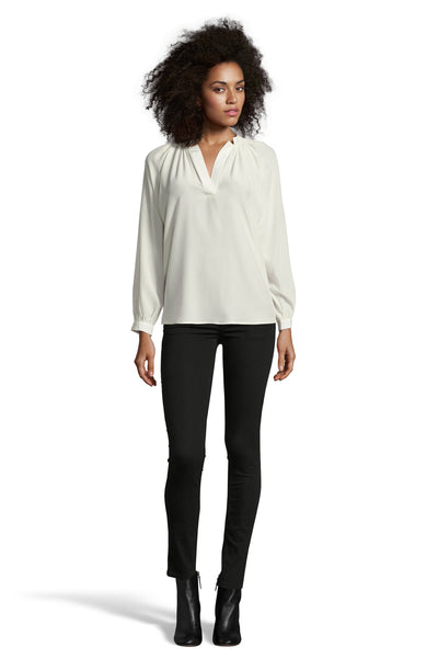The Long Sleeve Polo Blouse