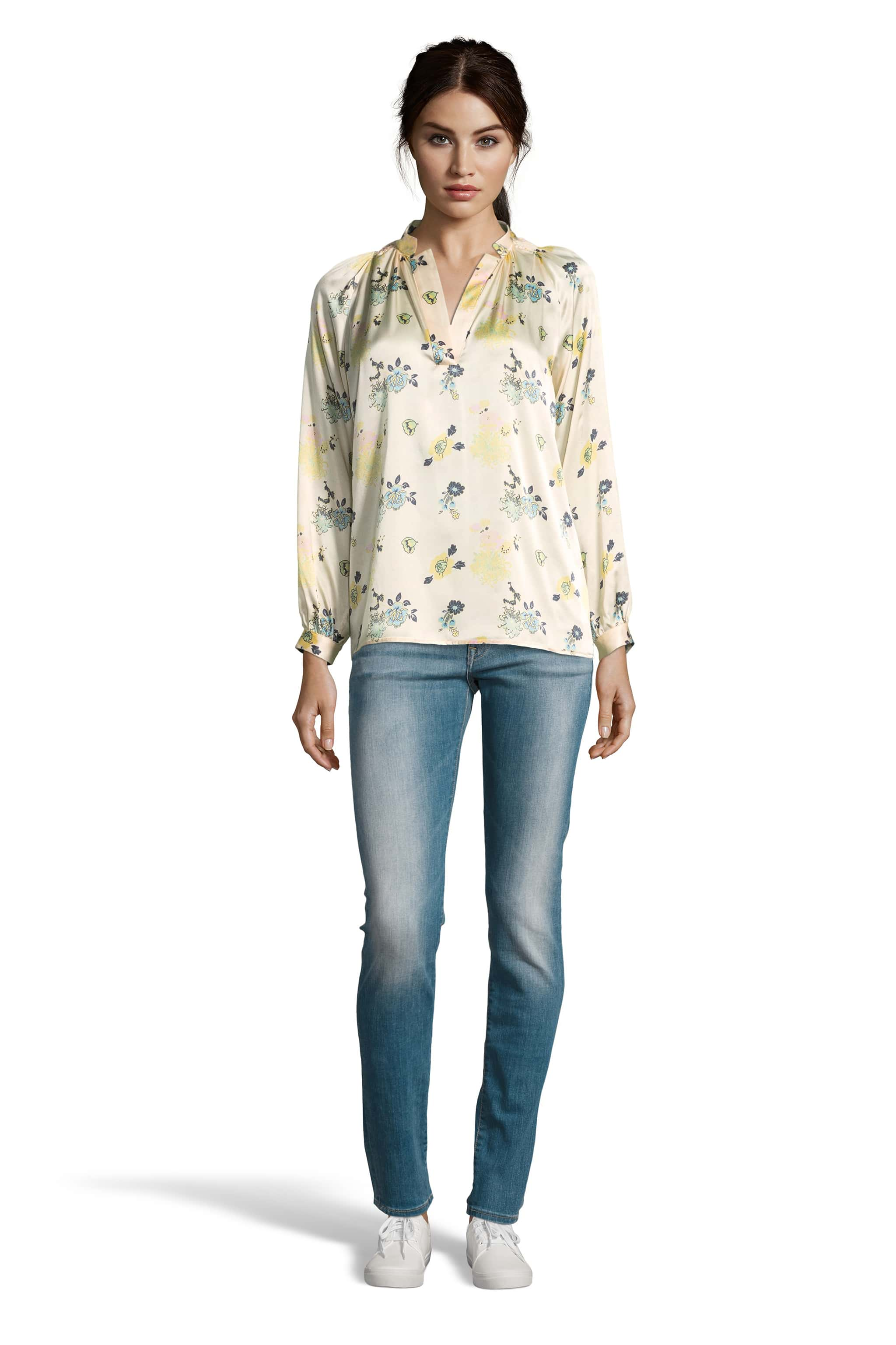 The Long Sleeve Polo Blouse | Floral Morsels