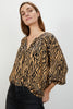 The Classic Blouse | Tan Zebra