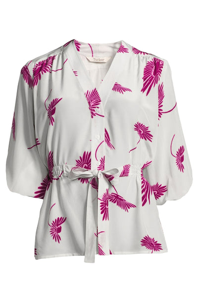 The Abigail's Party Blouse | Creme and Cassis