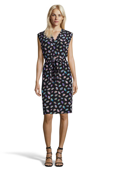 The Sleeveless Tie Waist Dress | Glass Patch Print