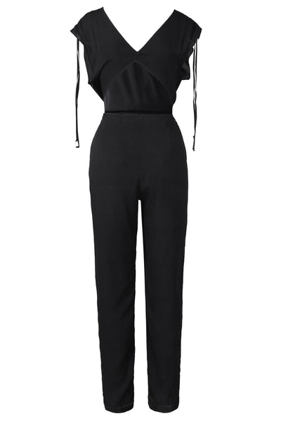 The Spaghetti Strap Jumpsuit | Black