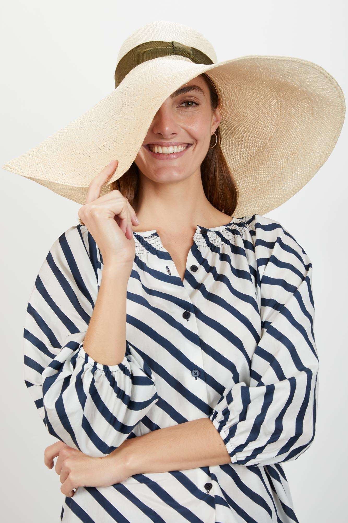 The Classic Blouse | Navy Breton Stripe