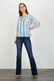 The Classic Blouse | Painterly Cloud Stripe