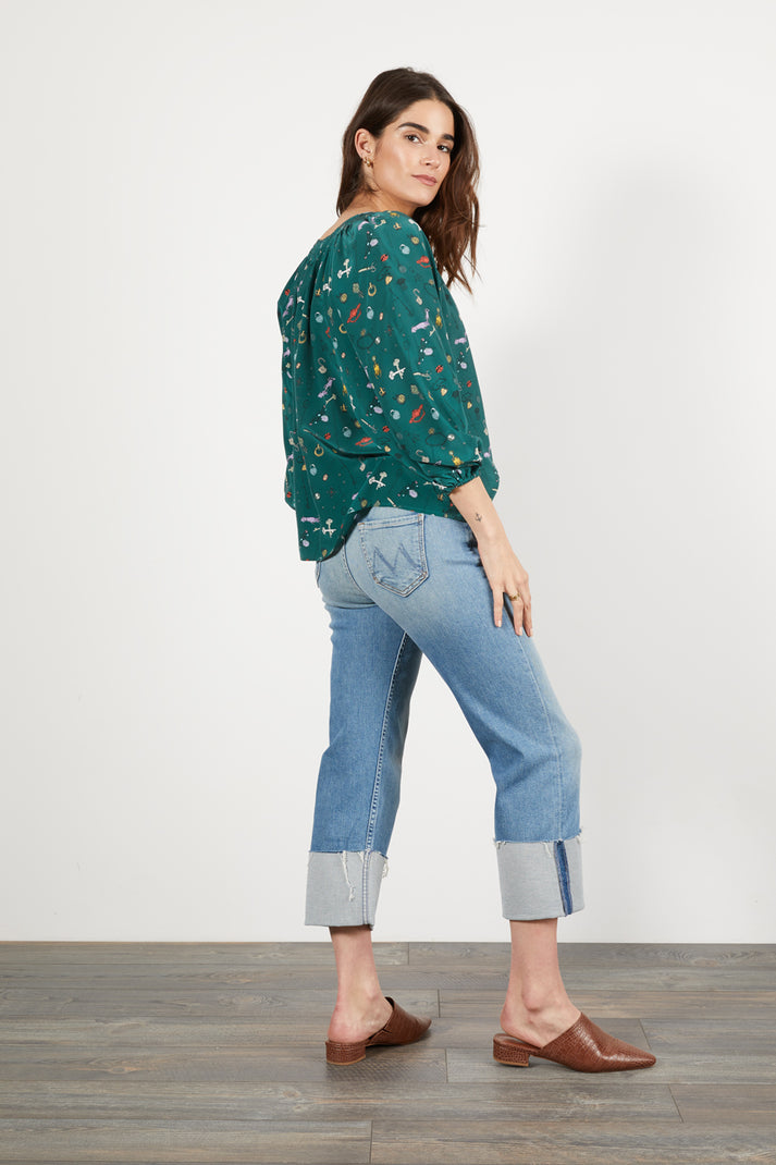 The Classic Blouse | Lucky Finds Emerald