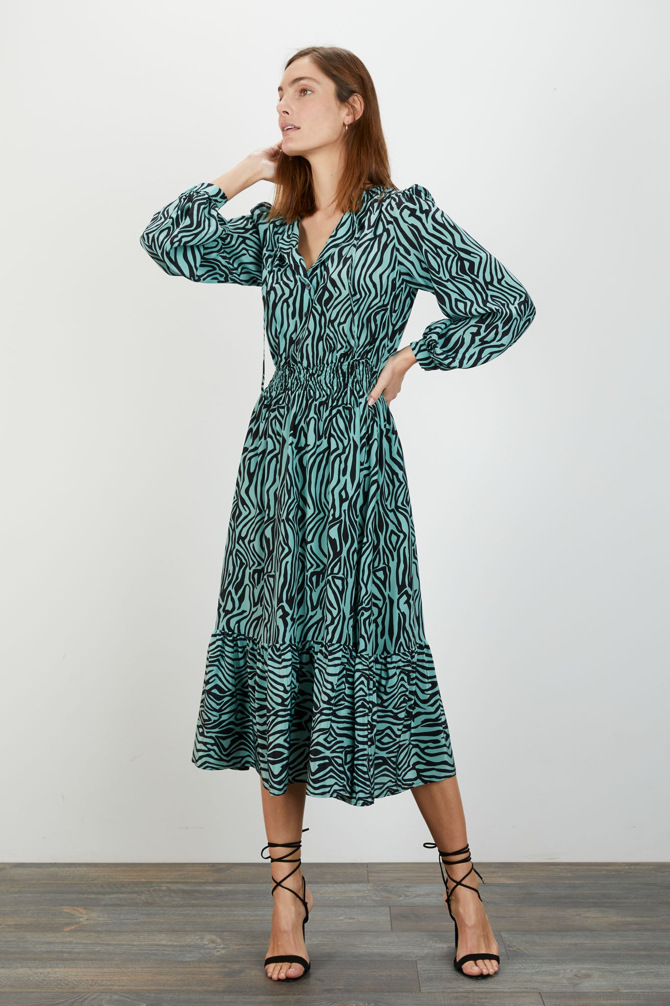 Juliette Dress | Water Zebra
