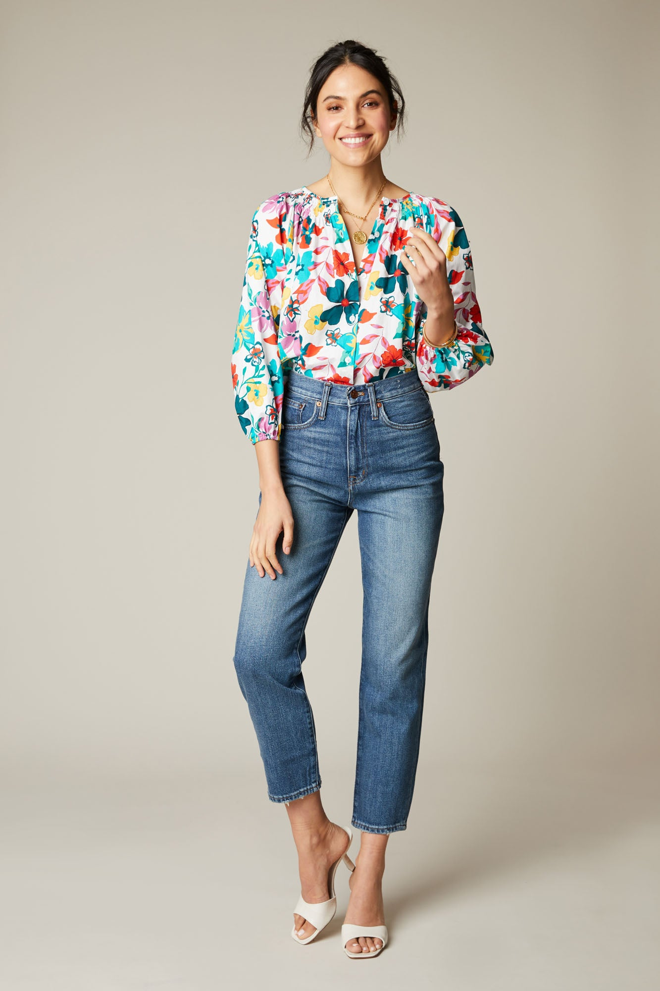 The Classic Blouse | White Casa Floral