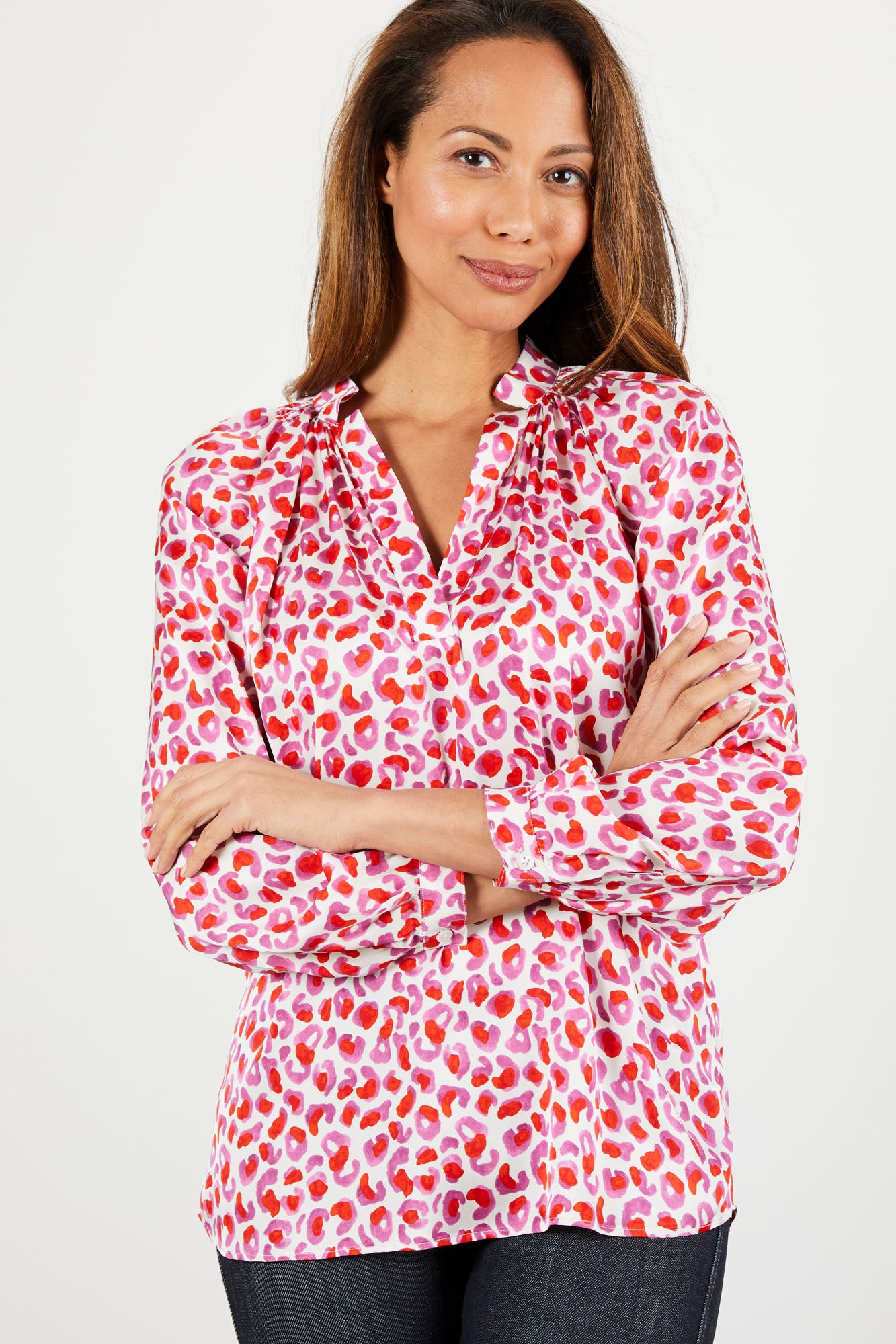 The Long Sleeve Polo Blouse | Lovely Leo