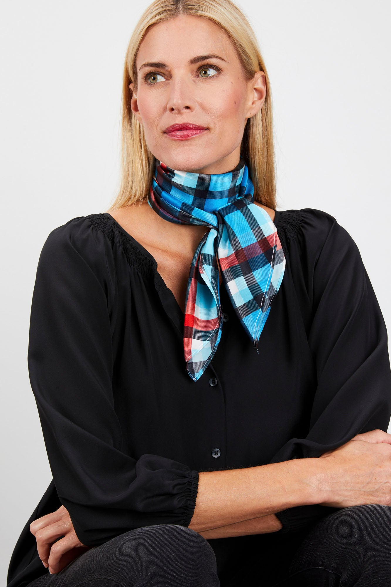 Lily Scarf | Abominable Snowmonster Plaid