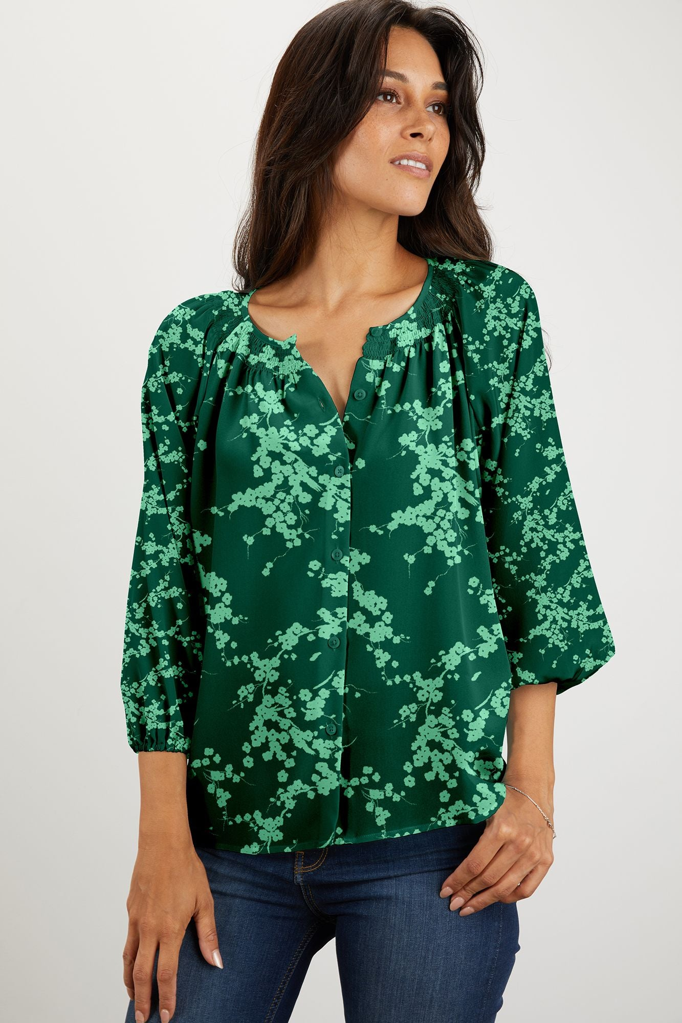 The Classic Blouse | Emerald Love Duet