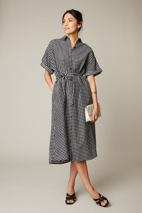 Safari Shirtdress | Black Gingham